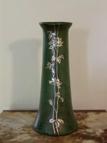 Heintz Art Metal Vase – Sterling Silver Climbing Rose & Floral Appliqué