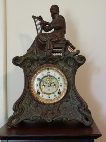 Art Nouveau Ansonia Miranda Clock Figure 1008 Circa 1895 – 1905