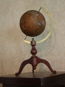 Perce's Magnetic Globe – Antique Civil War Era School Model