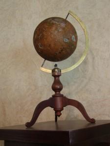 Perce's Magnetic Globe – Antique Civil War Era School Model