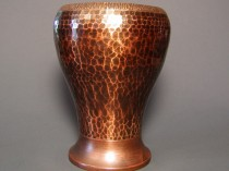 Old Mission Kopperkraft Hand Hammered Copper Vase OMKK