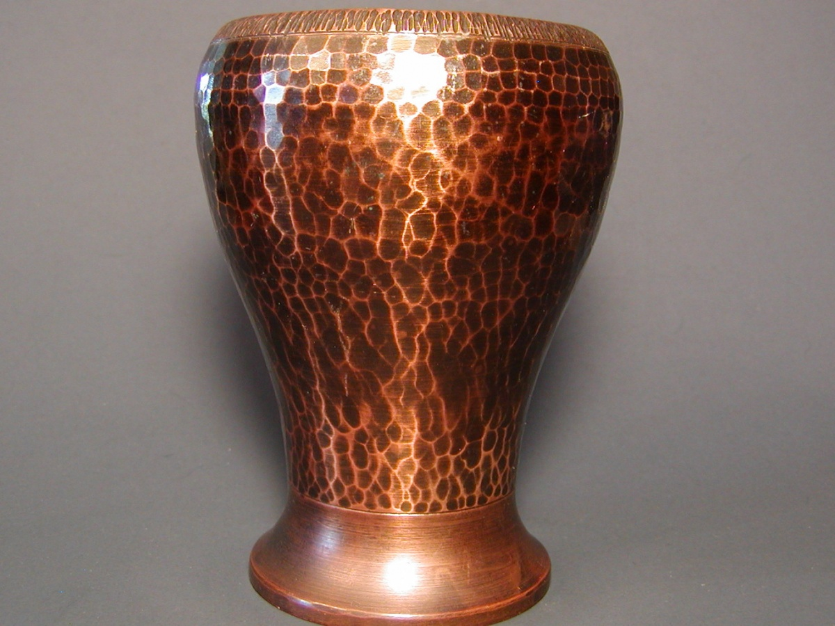 Old Mission Kopper Kraft Hand Hammered Copper Vase