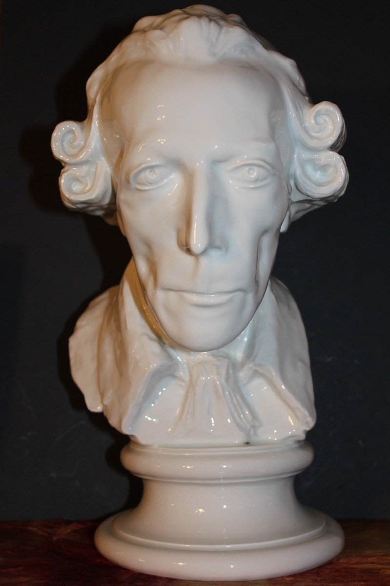 Rare Meissen White Porcelain Bust Frederick The Great
