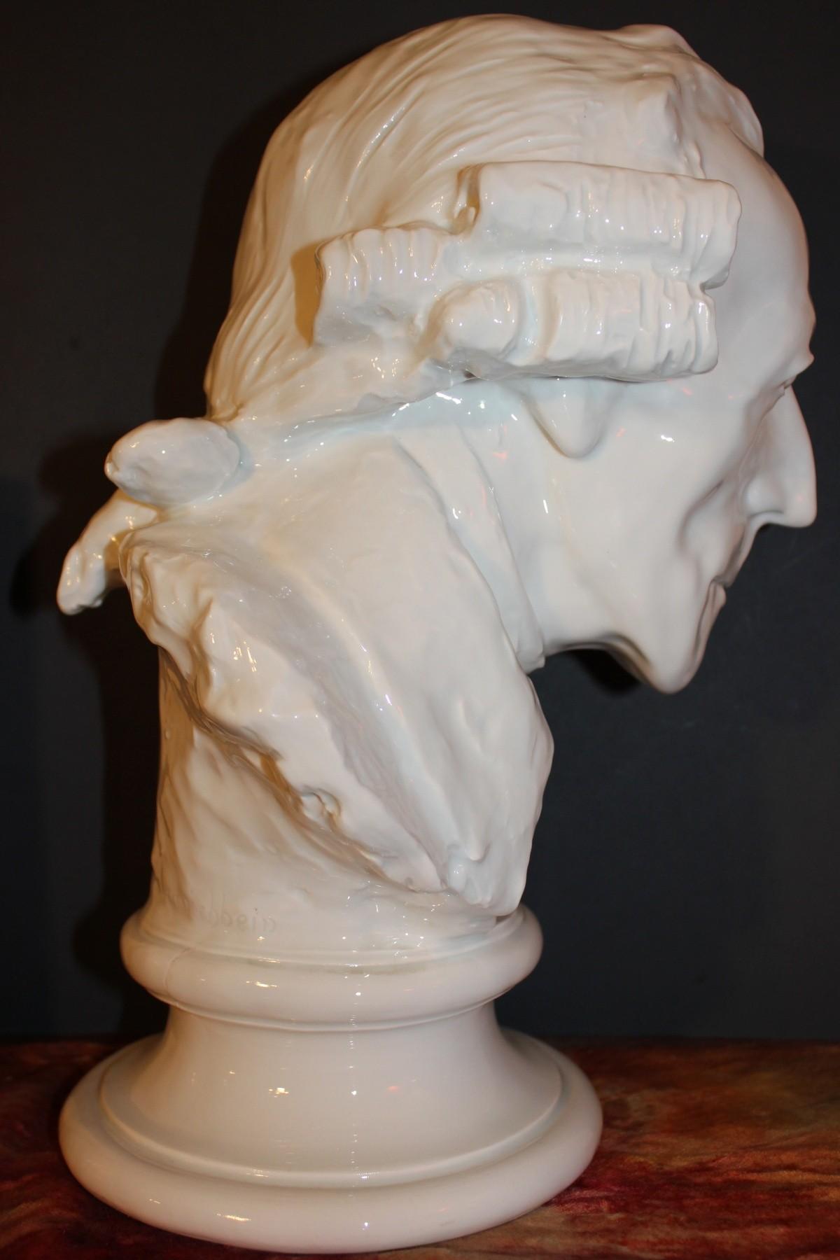 Rare Meissen White Porcelain Bust