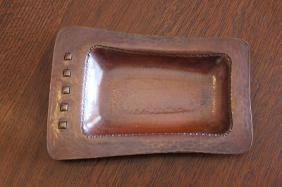Hand Hammered Copper Porringer Signed R B Reitz #2 of 9