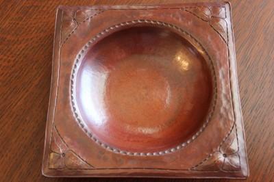 Hand Hammered Copper Porringer Signed R B Reitz #6 of 9