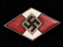 German World War II Hitler Jugend Youth Enamel Membership Badge
