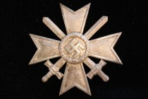 LDO Cased WW II German War Merit Cross 1st Class Medal With Swords