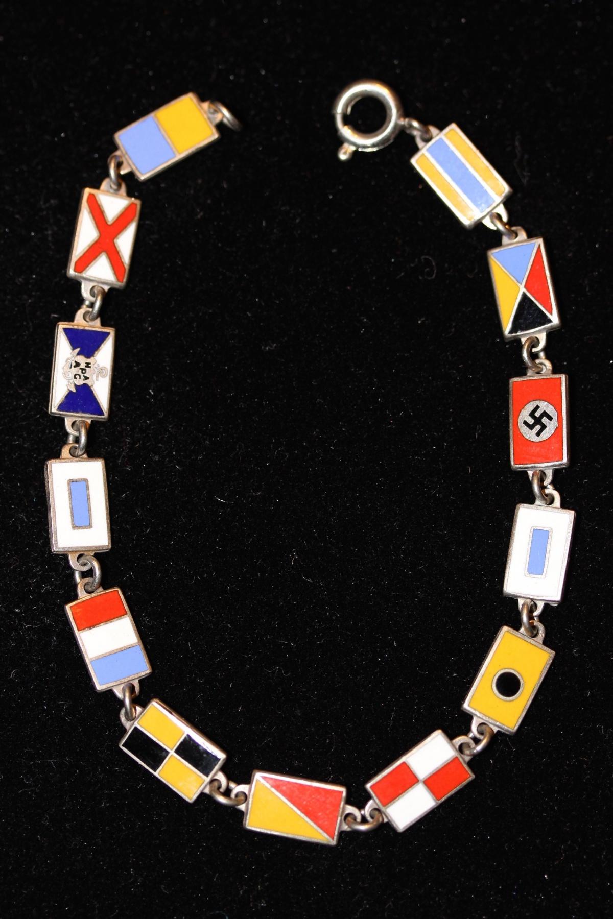 MS St Louis Souvenir Bracelet – Voyage of the Damned – Nautical Flags & Nazi Flag